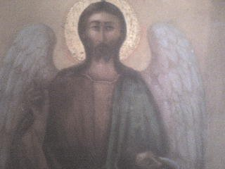 "<div align=""left""> Φορητή εικόνα στο ξωκλήσι Άγιος Γιάννης- Τρεψύχι<br /> </div>"